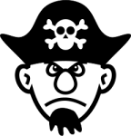 young_pirate_bw
