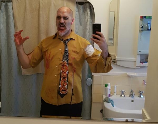 zombie, hallowe'en, costume